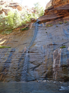 Waterfall The Narrows Zion UT