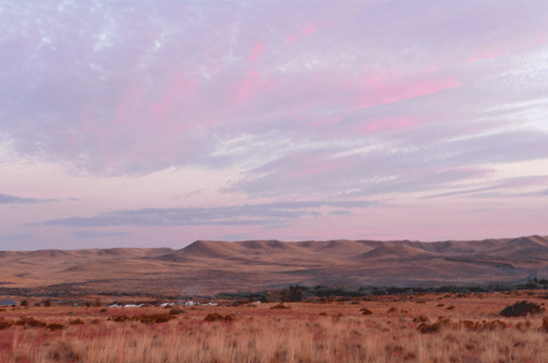 Bruneau Dunes hills sunset