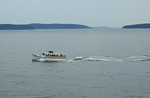 Bass Harbor Light tour boat
