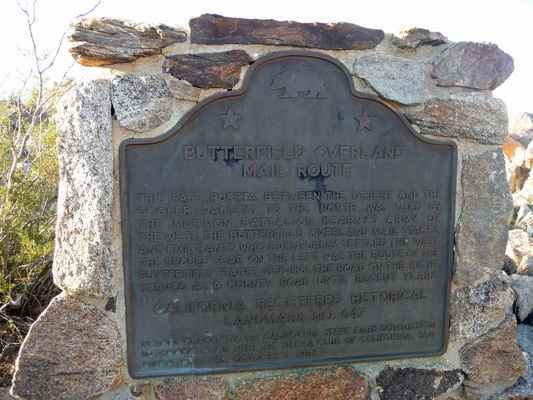 Foot and Walker Pass Historical Marker