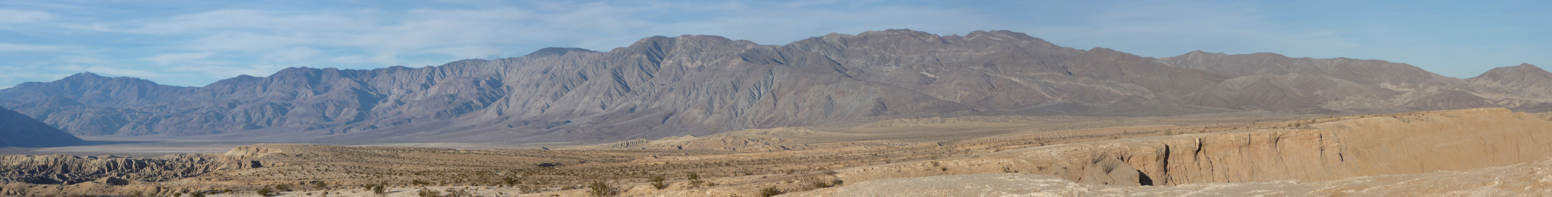 Foss Point looking north Anza Borrego