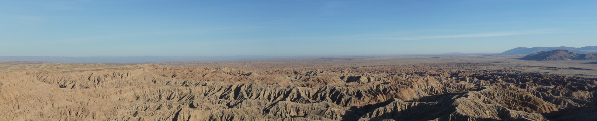 Foss Point looking east Anza Borrego