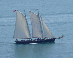 Two masted sailing ship from Pt. Loma CA