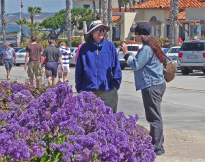 Walter and Tracy Cooke with sea statice at La Jolla CA