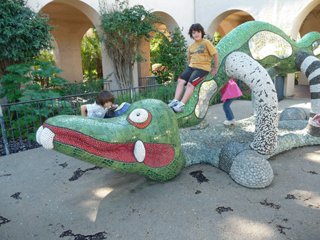 Dragon sculpture Balboa Park San Diego