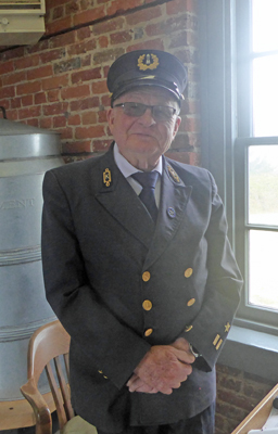 Cape Blanco docent in Lighthouse Service uniform