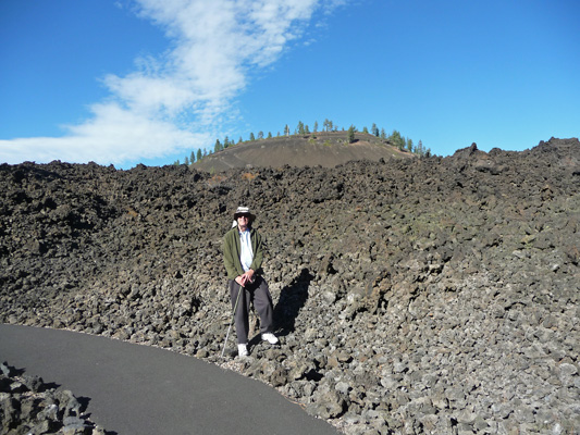 Walter Cooke at Lava Lands Visitor Center trail OR