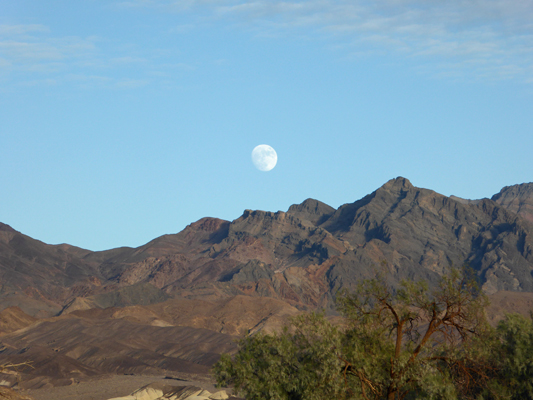 Moon over Funeral Mts Death Valley