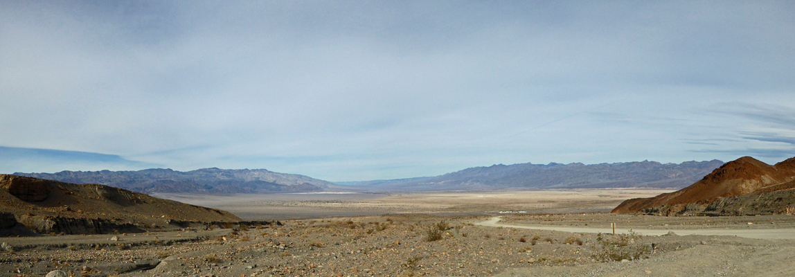 Death Valley from Mosaic Canyon parking lot