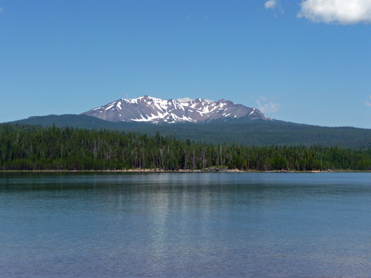 Diamond Peak from Crescent Lake OR
