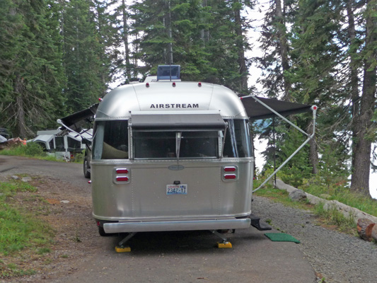 Airstream Flying Cloud all awnings out