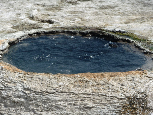 Boiling hot spring West Thumb Yellowstone