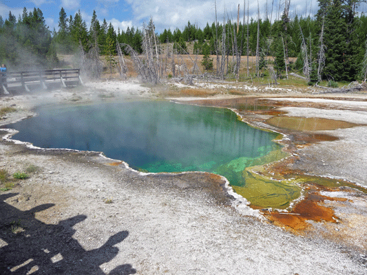 Abyss Pool West Thumb Yellowstone