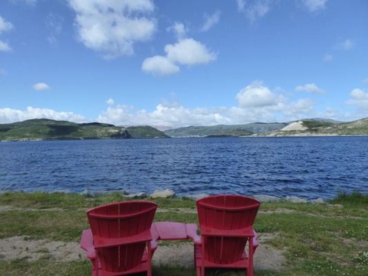 Gull Rock Red Chairs Gros Morne