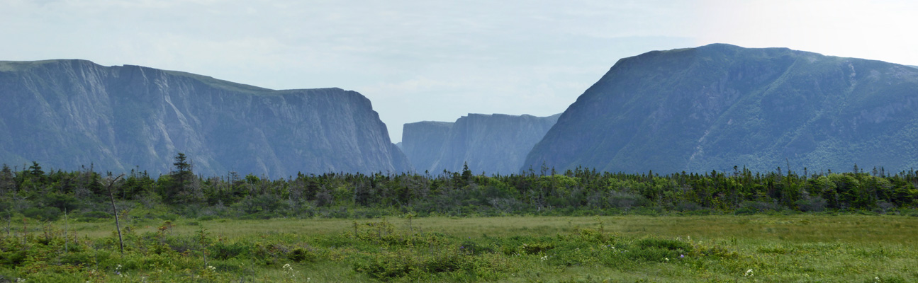 Western Brook Pond Trail view