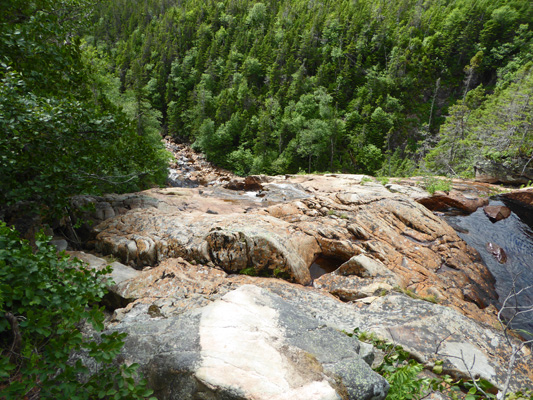 From top of Southeast Brook Falls
