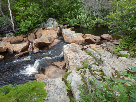 Cascade at top of Southeast Brook Falls
