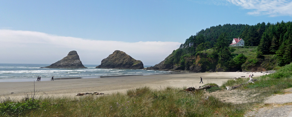 Heceta Head from beach