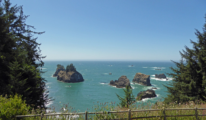 View from Arch Rock Viewpoint parking lot