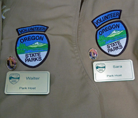 Oregon State Parks vests and name tags