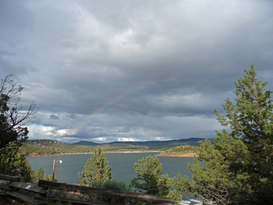 Rainbow over Prineville Reservoir