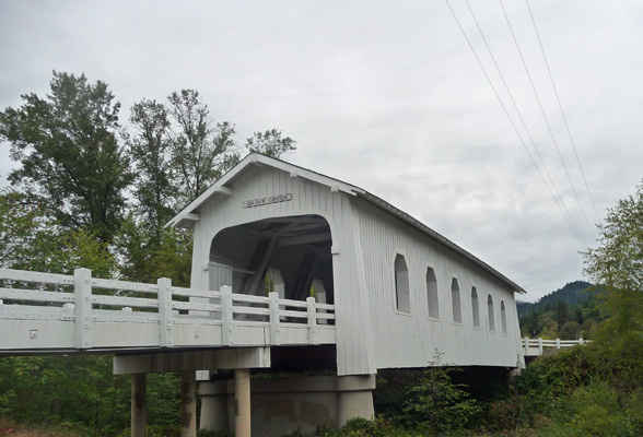Grave Creek Covered Bridge OR