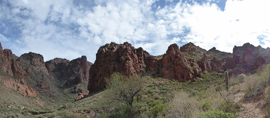 End of Arch Canyon trail