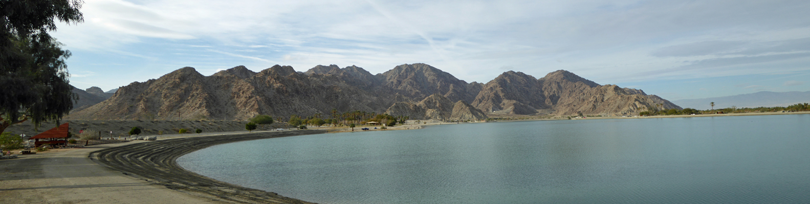 Lake Cahuilla from campground