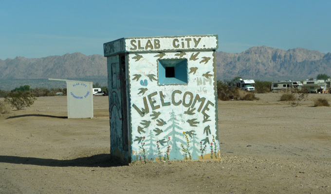 Old guard house Slab City CA