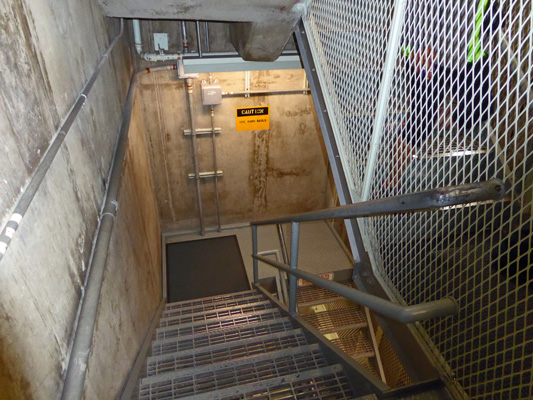 Stairs down into Titan Missile Silo